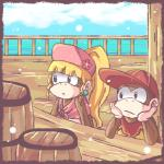 barrel black_eyes blonde_hair brown_fur clothing cloud diddy_kong dixie_kong donkey_kong_(series) duo female fur green_eyes hair hat jewelry long_hair male mammal monkey nintendo ponytail primate table unknown_artist video_games water   Rating: Safe  Score: 1  User: Cαnε751  Date: April 22, 2015