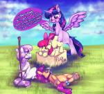 2016 <3 <3_eyes apple_bloom_(mlp) ball_gag blush bound bow cloud cub cutie_mark_crusaders_(mlp) dialogue dickgirl dickgirl/female earth_pony english_text equine feathered_wings feathers female feral friendship_is_magic fur gag gagged group hair hi_res horn horse intersex intersex/female long_hair lying mammal maplecandies multicolored_hair my_little_pony on_side open_mouth orange_fur penetration pony purple_eyes purple_fur purple_hair restrained rope scootaloo_(mlp) sex sex_toy sweetie_belle_(mlp) tears text twilight_sparkle_(mlp) two_tone_hair white_fur winged_unicorn wings yellow_fur young  Rating: Explicit Score: 48 User: lemongrab Date: January 17, 2016
