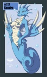anthro anthrofied blue_nipples blue_pussy breasts collaboration female fish marine mingchee nintendo nipples notorious84 pokémon pokémon_(species) pokémorph pussy seadra seahorse solo the_pokedex_project video_games water