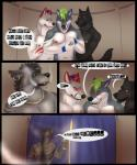 2015 anthro black_fur blackshepard blue_eyes blush body_hair brothel candor canine cigar comic ear_piercing folf fox fur gloebis green_hair group hair happy_trail hybrid male mammal nipples nude piercing smoke smoking telim wolf  Rating: Questionable Score: 6 User: Vezzie Date: August 03, 2015