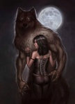 black_hair brown_fur canine capprotti female full_moon fur hair human looking_at_viewer male mammal moon night were werewolf   Rating: Safe  Score: 12  User: yasevil  Date: January 08, 2014