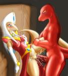 breasts clothing cum cumshot dark-moltres dino_in_red dinosaucers dinosaur duo female male male/female orgasm panties penis pussy reptile scalie sex underwear  Rating: Explicit Score: 4 User: SwiftNimblefoot Date: June 16, 2015""
