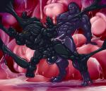 2018 4_toes 5_fingers abs anal anal_penetration animal_genitalia animal_penis anthro anthro_on_anthro biceps black_penis black_skin bound canine canine_penis cum cum_in_ass cum_inside cyclops darkstalkers demon digitigrade duo erection forced goo_creature hungothenomster jon_talbain knot kuromaru male male/male mammal mane muscular muscular_male muscular_thighs nipples nude open_mouth penetration penis red_eyes restrained rubber standing tar toes vein video_games were werewolf yellow_eyes