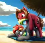 """duo equine fan_character feral feral_on_feral hair horn horse looking_pleasured male male/male mammal multicolored_hair my_little_pony otakuap pony public  Rating: Explicit Score: 23 User: ap01 Date: June 05, 2015"""""""
