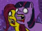 atteroamore equine fluttershy_(mlp) friendship_is_magic fur hair horse mammal my_little_pony pink_hair pony purple_fur purple_hair twilight_sparkle_(mlp) undead yellow_fur zombie   Rating: Safe  Score: 0  User: Poontang  Date: December 13, 2013