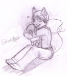 anthro arctic_fox canine cute enoki fox half-life headcrab hug mammal sammy_fox   Rating: Safe  Score: 0  User: sammyfox  Date: October 28, 2009