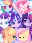 applejack_(mlp) blonde_hair blue_body blue_eyes close-up cowboy_hat earth_pony equine female fluttershy_(mlp) friendship_is_magic green_eyes green_hair hair hat hi_res horn horse looking_at_viewer mammal multicolored_hair my_little_pony orange_body pastelmistress pegasus pink_body pink_hair pinkie_pie_(mlp) pony purple_body purple_eyes purple_hair rainbow_dash_(mlp) rainbow_hair rarity_(mlp) royalty simple_background smile starlight_glimmer_(mlp) twilight_sparkle_(mlp) two_tone_hair unicorn white_body winged_unicorn wings yellow_body  Rating: Safe Score: 3 User: Ariskapp9 Date: July 30, 2016