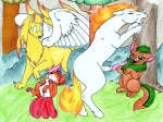anus canine equine female feral fox male multiple_tails neopets ninetales nintendo outside penis pokémon pussy rapidash straight video_games vulpix wings xweetok   Rating: Explicit  Score: 2  User: Caroway  Date: March 24, 2010