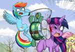 2015 blood crimsonbugeye dead_tree equine female fluttershy_(mlp) flying friendship_is_magic hair horn mammal multicolored_hair my_little_pony pegasus propeller rainbow_dash_(mlp) rainbow_hair reptile scalie tank_(mlp) tortoise turtle twilight_sparkle_(mlp) winged_unicorn wings  Rating: Safe Score: 9 User: 2DUK Date: September 03, 2015