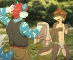 2013 anthro blue_fur briefs brown_fur brown_hair bulge canine clothing dog duo fur hair male mammal morenatsu red_hair shun topless underwear ursofofinho wolf   Rating: Questionable  Score: 19  User: Hardstyle_Chris  Date: November 15, 2013