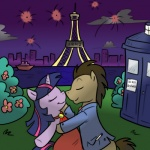 boat brown_hair crossover doctor_who doctor_whooves_(mlp) eiffel_tower equine female friendship_is_magic hair horn horse kissing male my_little_pony paris pony tardis twilight_sparkle_(mlp) two_tone_hair unicorn unknown_artist   Rating: Safe  Score: 3  User: RenaDyne  Date: April 29, 2011