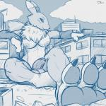 """3_toes anthro balls breasts building canine claws clothing dickgirl digimon erection fox fur gloves humanoid_penis intersex macro mammal monochrome nude paws penis renamon smile solo teaselbone toe_claws toes  Rating: Explicit Score: 22 User: camelot1 Date: December 05, 2014"""""""