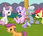 apple_bloom_(mlp) bdsm blue_eyes blush bondage bound bow cub cutie_mark cutie_mark_crusaders_(mlp) diamond_tiara_(mlp) earth_pony equine eyewear feathers female feral friendship_is_magic fur glasses grass green_eyes grey_fur group hair horn horse jewelry magic mammal multicolored_hair my_little_pony necklace open_mouth orange_fur pegasus pink_fur pink_hair placeholder pony purple_eyes purple_hair red_hair rope scootaloo_(mlp) silver_spoon_(mlp) sweetie_belle_(mlp) tears teeth tickling tongue two_tone_hair unicorn warpaint white_fur wings yellow_fur young  Rating: Safe Score: 9 User: DragonRanger Date: December 06, 2013