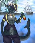 alcohol anthro beverage bottle canine collaboration cydergerra fin fish fully_sheathed fur hair hat hybrid looking_at_viewer male mammal marine outside pirate popesslodovica sea shark sheath ship solo water wolf   Rating: Explicit  Score: 12  User: KingOfVersailles  Date: March 01, 2015