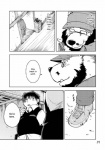 anthro bear beard clothing comic english_text eyewear facial_hair glasses greyscale human kumagaya_shin male mammal manga monochrome overweight text tom_(kumagaya) uniform yuki_(kumagaya)  Rating: Safe Score: 0 User: pepito34226 Date: May 02, 2016