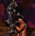 2012 3d abs biceps big_muscles black_howler canine cgi erection fellatio gay human interspecies male mammal muscles nipples oral oral_sex pecs penis sex were werewolf   Rating: Explicit  Score: 18  User: furmann  Date: December 15, 2012