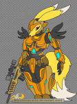 anthro armor bandai canine digimon female fox gun mammal ranged_weapon renamon solo souzousha weapon   Rating: Safe  Score: 5  User: slyroon  Date: March 28, 2015