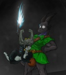 2015 anthro areola big_breasts breasts bulge dickgirl dragon duo erect_nipples female grope horn imp intersex midna nintendo nipples nude shinysteel smile the_legend_of_zelda twili twilight_princess video_games   Rating: Questionable  Score: 7  User: Robinebra  Date: May 22, 2015