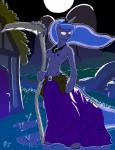 2015 anthro belt blue_fur blue_hair breasts clothed clothing cutie_mark female friendship_is_magic fur hair hi_res horn melee_weapon moon my_little_pony nipples outside polearm pose princess_luna_(mlp) royalty scythe solo threewontoo topless weapon  Rating: Questionable Score: 9 User: CoffeeBean Date: January 23, 2016