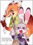 2016 anthro blush buckteeth canine cute disney duo female fox fur grey_fur judy_hopps lagomorph long_ears male mammal nick_wilde orange_fur rabbit seoji size_difference teeth zootopia  Rating: Safe Score: 3 User: Vallizo Date: May 06, 2016