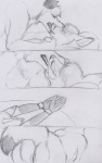 2014 anthro bdsm bent_over bondage bound canine cuffs domination duo eyes_closed female female_domination fox handcuffs kissing lying male male/female mammal nude on_back paper-wings presenting pussy raised_tail sex shackles sketch   Rating: Explicit  Score: 10  User: TonyLemur  Date: October 07, 2014