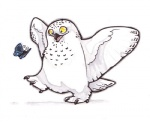 ambiguous_gender arthropod avian beak bird butterfly cute feathers insect lyosha open_mouth owl plain_background snowy_owl talons white_background white_feathers wings yellow_eyes  Rating: Safe Score: 9 User: corgi_bread Date: August 09, 2013""