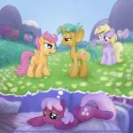 bed cheerilee_(mlp) cub digital_media_(artwork) dinky_hooves_(mlp) earth_pony equine female field friendship_is_magic group hi_res horn horse inside male mammal my_little_pony night outside pegasus pony scootaloo_(mlp) smudge_proof snails_(mlp) thought_bubble unicorn wings young  Rating: Safe Score: 4 User: Smudge_Proof Date: July 22, 2015