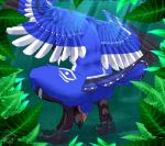 anthro avalondragon avian backsack balls bathing beak bird black_body blue_body blue_eyes blue_jay butt corvid crouching fasttrack37d feathers flaccid forest looking_at_viewer looking_back male markings nude outside penis perineum solo tail_feathers talons tree vein water white_body wings  Rating: Explicit Score: 36 User: TheHuskyK9 Date: August 05, 2014