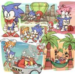 2019 ? aloha_shirt alternate_costume ambiguous_gender angry anthro bell biped black_eyes blue_body blue_fur bottomwear canid canine carrying classic_amy_rose classic_knuckles classic_sonic classic_sonic_(universe) classic_tails clenched_teeth clothing cubot digital_media_(artwork) dr._eggman echidna egg_mobile eulipotyphlan facial_hair female flying footwear fox frown fur gem gloves green_clothing green_shirt green_topwear grin group hammock hand_holding handwear hedgehog helicopter_tail human knuckles_the_echidna machine male mammal master_emerald miles_prower monotreme multiple_images mustache orange_body orange_bottomwear orange_clothing orange_fur orange_skirt orbot outside palm_tree pink_body pink_fur red_body red_fur robot shirt shoes sitting skirt smile sonic_the_hedgehog sonic_the_hedgehog_(series) standing sunset teeth temple topwear tree vehicle white_body white_fur z-t00n