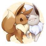 25_(artist) ambiguous_gender brown_eyes duo eevee eyes_closed feral fur low_res nintendo nuzzling pokémon shiny_pokémon smile standing video_games   Rating: Safe  Score: 17  User: Mittsies  Date: October 11, 2014