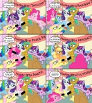 applejack_(mlp) blindfold blush censored comic cub cutie_mark dialogue earth_pony english_text equine female feral fluttershy_(mlp) friendship_is_magic fur green_hair hair horn horse male mammal multicolored_hair my_little_pony pegasus pink_fur pink_hair pinkie_pie_(mlp) pony purple_hair rainbow_dash_(mlp) rainbow_hair rarity_(mlp) snails_(mlp) text the_weaver twilight_sparkle_(mlp) unicorn wings young  Rating: Questionable Score: 12 User: Latios69 Date: June 07, 2011