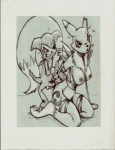 anthro bdsm bound canine collar cum digimon duo female fluffy_tail fox fur humanoid imp impmon leash low_res male male/female mammal monochrome pencil_(artwork) renamon sex tail_grab traditional_media_(artwork) unknown_artist  Rating: Explicit Score: 4 User: Robotboy24 Date: July 24, 2013