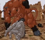 anal anal_penetration anthro balls bovine cattle cum cum_inside duo elephant hasani hooves huge_insertion huge_penetration hyper male male/male mammal markwulfgar meanbeard muscles penetration penis piercing size_difference tight_fit   Rating: Explicit  Score: 12  User: the_vole  Date: February 19, 2009
