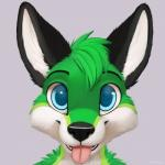 2015 anthro blue_eyes canine cute fox fur green_fur jamesfoxbr looking_at_viewer male mammal open_mouth plain_background smile solo teeth tongue tongue_out   Rating: Safe  Score: 4  User: jamesfoxbr  Date: March 02, 2015