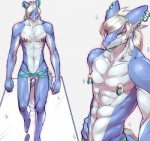 anthro clothed clothing cuntboy dragon ear_piercing green_eyes green_lips hair intersex nipple_piercing nipples piercing plain_background pussy sasamix scalie skimpy slim sparkles toned white_background white_hair   Rating: Explicit  Score: 5  User: chdgs  Date: March 22, 2015