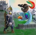 2015 avian digital_media_(artwork) dimfann duo equine female feral friendship_is_magic gilda_(mlp) gryphon gun mammal my_little_pony pegasus rainbow_dash_(mlp) ranged_weapon rifle weapon wings   Rating: Safe  Score: 14  User: Robinebra  Date: February 22, 2015