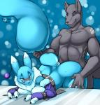 2013 anthro black_nose blue_eyes blue_fur blush bound breast_squish breasts canine chest_tuft claws clothing digimon digital_media_(artwork) duo ear_piercing elbow_gloves fan_character female fingerless_gloves fox from_behind_position fur gloves grey_fur haley_(nightfaux) looking_down male male/female mammal nightfaux nude piercing pom_antenna renamon sex standing thick_thighs tuft voluptuous white_fur wolf  Rating: Explicit Score: 25 User: Fur_in_the_dark Date: December 20, 2013
