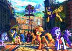 2015 applejack_(mlp) bag building city equine female friendship_is_magic group horn horse jowybean mammal manehattan mountain my_little_pony outside police police_uniform pony rarity_(mlp) taxi tower unicorn uniform  Rating: Safe Score: 9 User: 2DUK Date: October 10, 2015