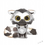 2015 :c ambiguous_gender antanariva anthro big_eyes chibi collar crossed_arms fur lemur looking_at_viewer mammal primate reaction_image solo standing toony