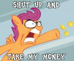 arm_out coin cub digital_media_(artwork) english_text equine eyelashes female feral friendship_is_magic fur gold_(metal) gold_coin grey_background hair hooves humor intense mammal meme my_little_pony open_mouth orange_fur pegasus purple_eyes purple_hair rage rage_face reaction_image scootaloo_(mlp) short_hair simple_background solo teeth text throwing unknown_artist wings young  Rating: Safe Score: 20 User: Blackphantom770 Date: December 26, 2014