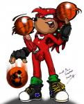 2009 anthro balls basketball clothing cock_ring footwear gloves knuckles_the_echidna legwear male neokat penis purple_eyes shoes simple_background socks solo sonic_(series) white_background  Rating: Explicit Score: -2 User: Untamed Date: September 08, 2015