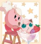 alien ambiguous_gender blue_eyes crossover dessert duo food ice_cream jigglypuff kirby kirby_(series) male nintendo pokémon super_smash_bros video_games ほんちゃ  Rating: Safe Score: 1 User: Cαnε751 Date: February 06, 2016