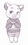 animal_crossing anthro barefoot black_eyes blush clothing crookedtrees cute eyelashes female flurry_(animal_crossing) fur greyscale hamster looking_at_viewer mammal monochrome nintendo plain_background rodent shorts shy solo standing sweater video_games white_background   Rating: Safe  Score: 1  User: atatat  Date: April 27, 2015