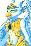 anthro armor avian bird breasts cute eagle eris eyelashes feathers female green_eyes legends_of_chima lego looking_at_viewer navel simple_background smile solo unknown_artist white_feathers  Rating: Safe Score: 6 User: DeltaFlame Date: September 29, 2015