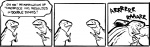 2007 dinosaur humor magic_user nedroid plain_background scalie time_paradox time_travel tyrannosaurus_rex webcomic what white_background   Rating: Safe  Score: 0  User: ignaciouspop  Date: April 22, 2011