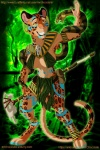 bodypaint breasts brown_eyes cleavage clothed clothing ear_piercing feline female jaguar jewelry jungle magic_user mammal mrchocolate orange_eyes piercing polearm reptile scalie skull smile snake staff tribal_spellcaster witch_doctor   Rating: Safe  Score: 3  User: mrchocolate  Date: December 27, 2012