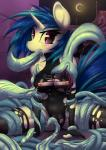 2015 anthro anthrofied areola blue_hair breasts camel_toe clothed clothing cum cum_in_mouth cum_inside equine female friendship_is_magic hair horn looking_at_viewer mammal mirapony my_little_pony nipples oral outside penis_tentacles solo spread_legs spreading sweat tentacles torn_clothing unicorn vinyl_scratch_(mlp)  Rating: Explicit Score: 37 User: lemongrab Date: November 01, 2015