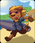 animal_crossing bud_(animal_crossing) dr-reggie eyewear feline lion male mammal nintendo sunglasses surfboard video_games   Rating: Safe  Score: 1  User: Juni221  Date: March 08, 2014