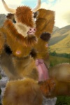 armpits balls beard bovine cattle erection facial_hair ginger hair hairy highlands horn male mammal penis scottish solo unknown_artist   Rating: Explicit  Score: -5  User: feathertouch  Date: February 19, 2013