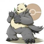 3_toes anthro bear biceps black_eyes black_fur black_nose blush emufu fangs fist fur leaf male mammal muscular nintendo overweight panda pangoro pokémon pose simple_background slightly_chubby solo toes video_games white_fur  Rating: Safe Score: 11 User: BlackBoltEX Date: March 15, 2014